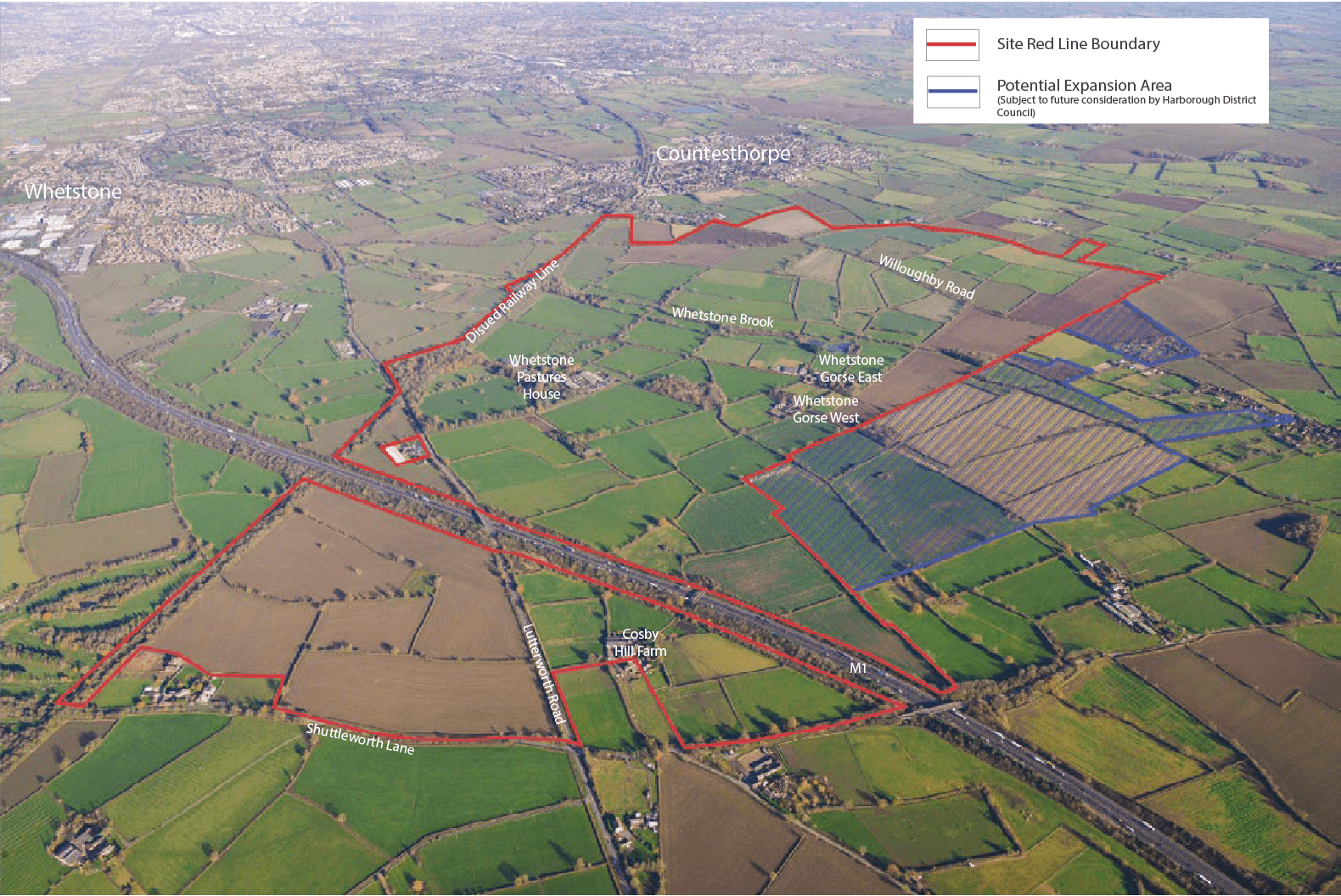 Aerial map of planned Whetstone Pastures location
